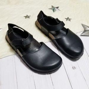 Birkenstock Alpro black leather clogs professional